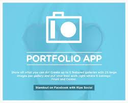 Facebook Portfolio App